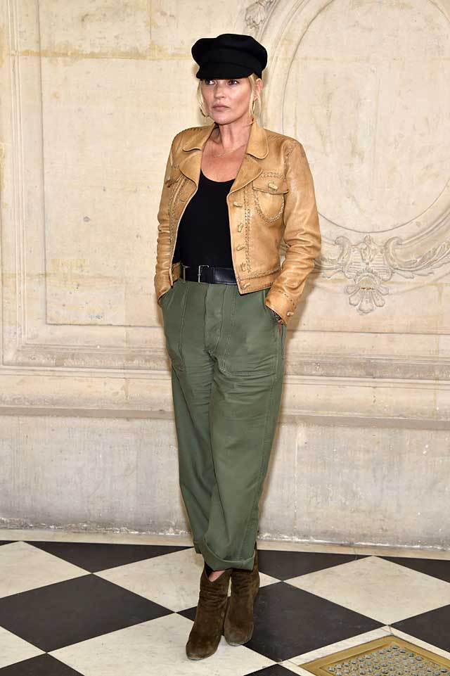 Kate-Moss-dior-fw17-rtw-fall-winter-2017-celeb-style-cropped-jacket-cap-1