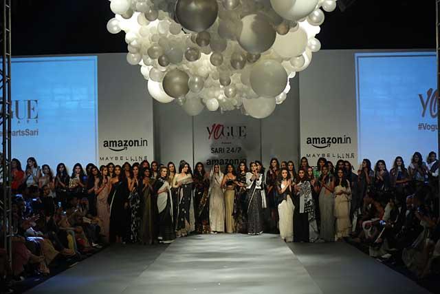 Vogue India presents Sari 24x7-amazon-india-autumn-winter-2017-collection-fashion-show