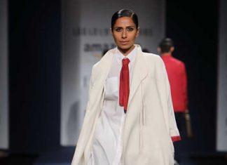 abraham-thakore-collection-aifw-indo-western-clothing-amazon-india-fashion-week-2017-bindi-white-outfit