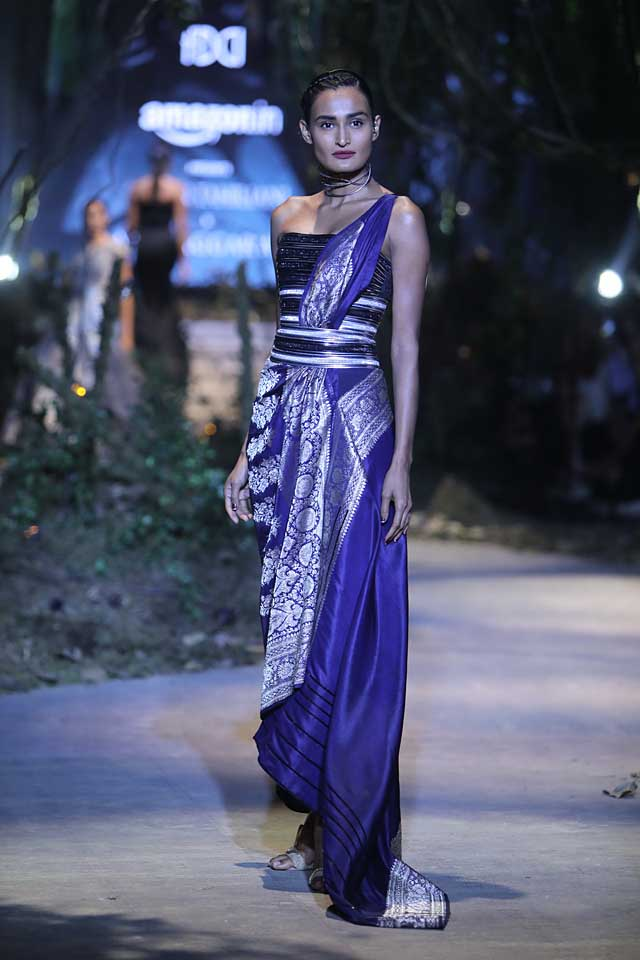 amit-aggarwal-amazon-india-fashion-week-2017-dress-indian (4)-saree-gown