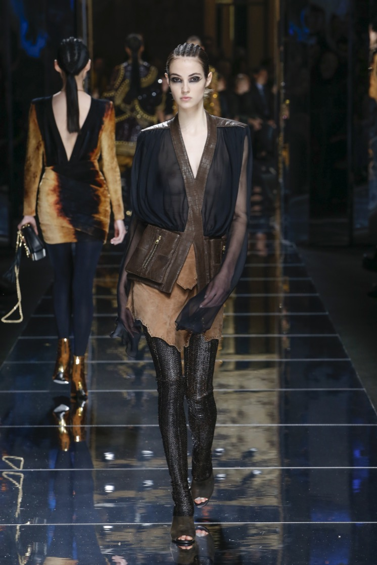 balmain-fw17-rtw-fall-winter-2017-18-collection (15)-sheer-sleeves