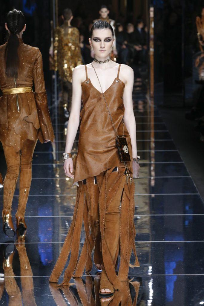 balmain-fw17-rtw-fall-winter-2017-18-collection (25)-leather-dress