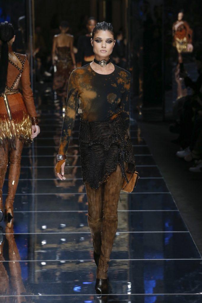 balmain-fw17-rtw-fall-winter-2017-18-collection (4)-galaxy-top-skirt