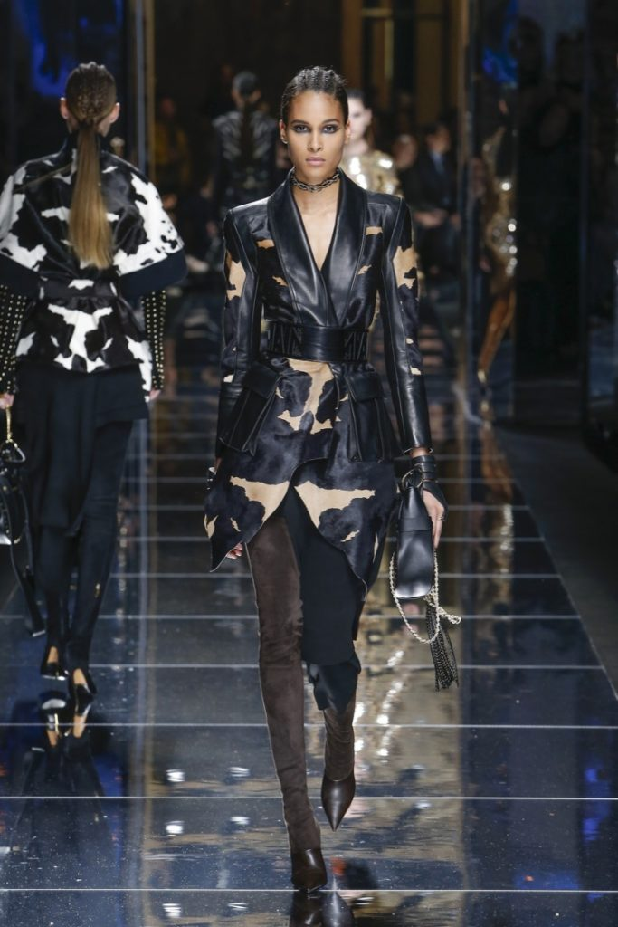 balmain-fw17-rtw-fall-winter-2017-18-collection (45)-leather-jacket-printed