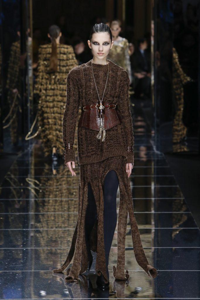 balmain-fw17-rtw-fall-winter-2017-18-collection (58)-slit-sweater-top-dress