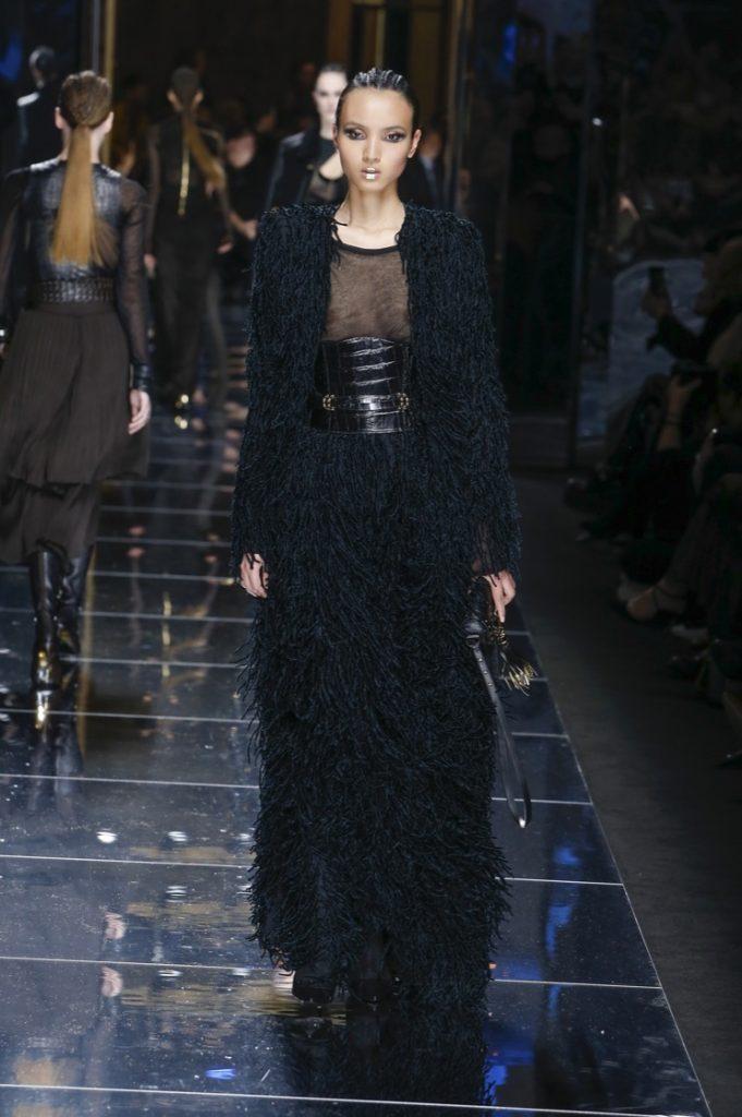 balmain-fw17-rtw-fall-winter-2017-18-collection (71)-ruffles-skirt-coat