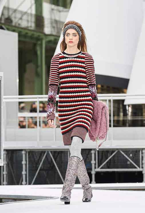 chanel-fw17-rtw-fall-winter-2017-18-collection (17)-sweater-dress