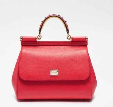 classy-women-fashion-dolce&gabbana-red-strap-bag-embellished-handle-spring-summer-2017