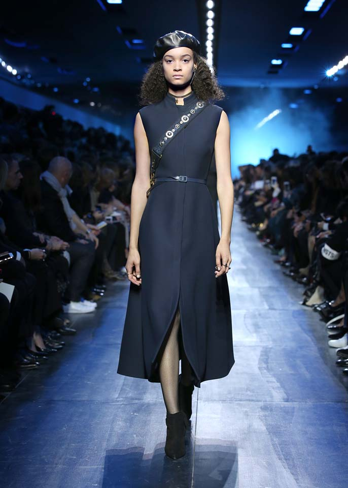 dior-fw17-rtw-fall-winter-2017-18-collection (38)-blue-slit-dress