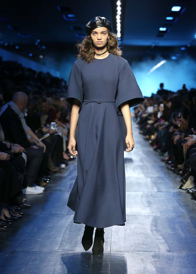 dior-fw17-rtw-fall-winter-2017-18-collection (40)-blue-dress