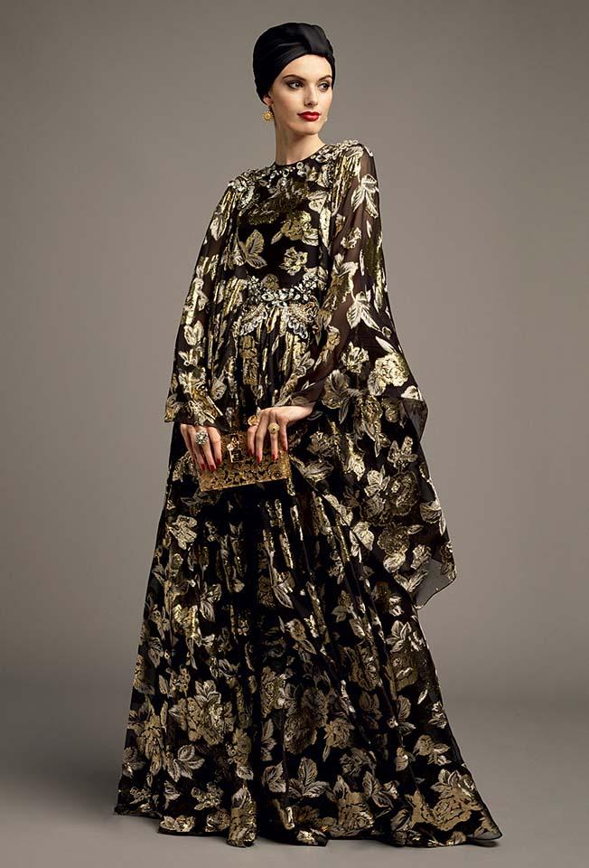 dolce-gabbana-abaya-fashion-hijab-muslim-women-style (8)-printed-kaftan-turban