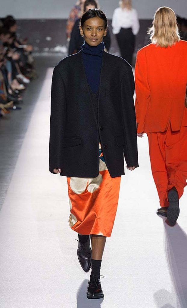 dries-van-noten-fw17-fall-winter-2017-collection-01 (7)-blue-jacket-orange-skirt