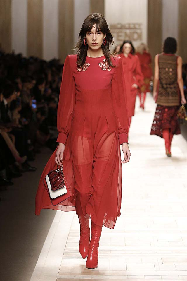 fendi-fw17-rtw-fall-winter-2017-18-collection (15)-red-dress-sheer