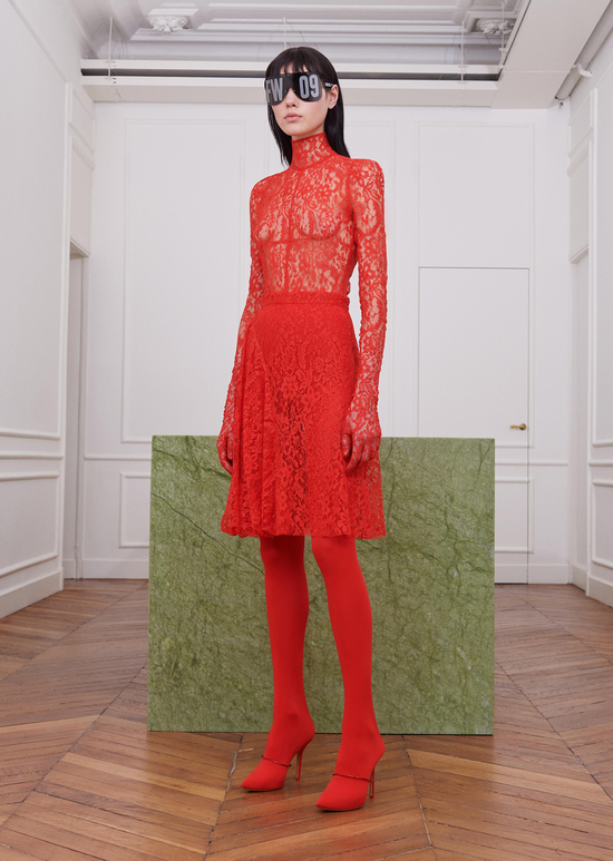 givenchy-fw17-rtw-fall-winter-2017-18-collection-all-red-outfit (12)-lace-sheer-dress