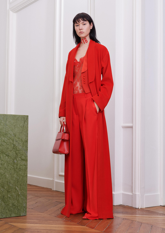 givenchy-fw17-rtw-fall-winter-2017-18-collection-all-red-outfit (14)-suit-sheer-top