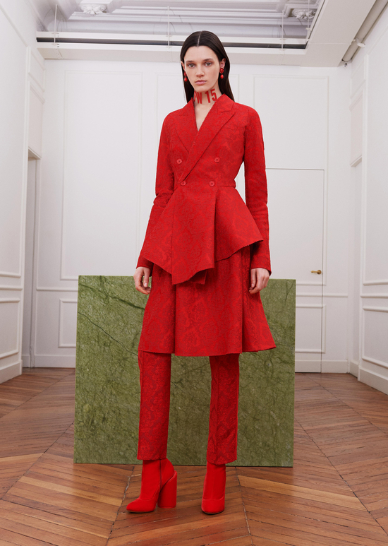 givenchy-fw17-rtw-fall-winter-2017-18-collection-all-red-outfit (15)-suit-dress