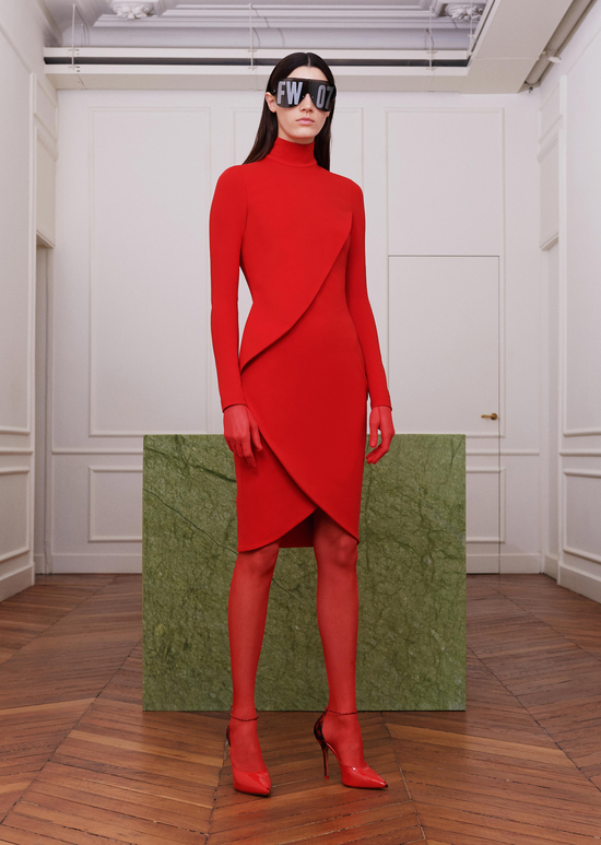 givenchy-fw17-rtw-fall-winter-2017-18-collection-all-red-outfit (2)-dress-sheer-leggings