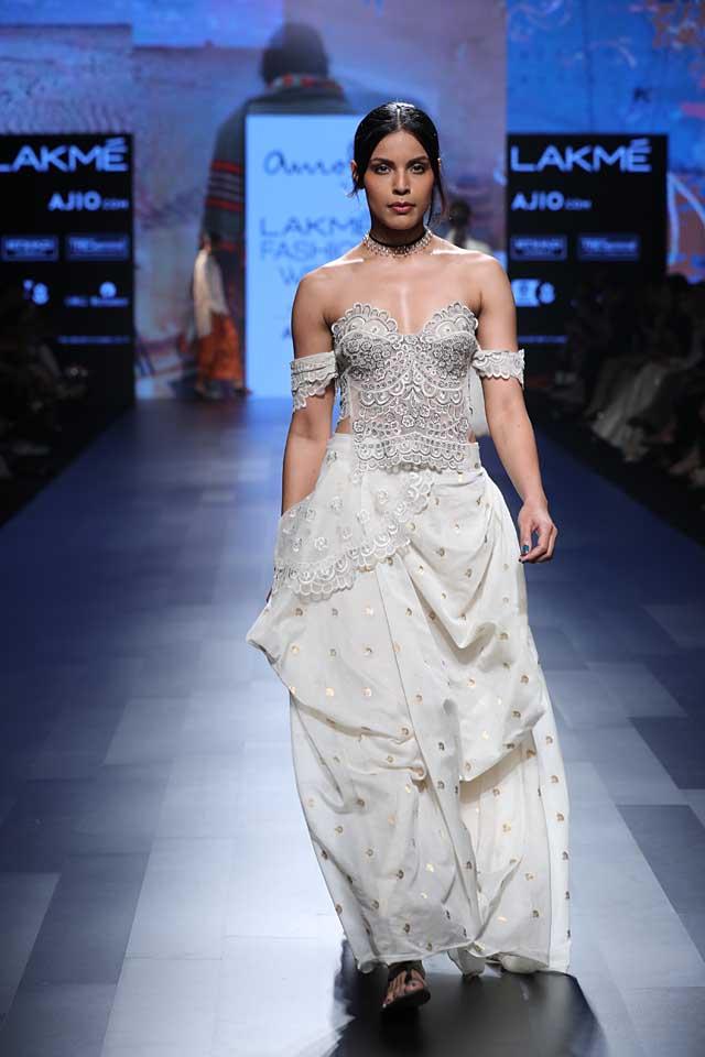top-indo-western-lehenga-design-asymmetric-style-SS17-amoh- by-jade