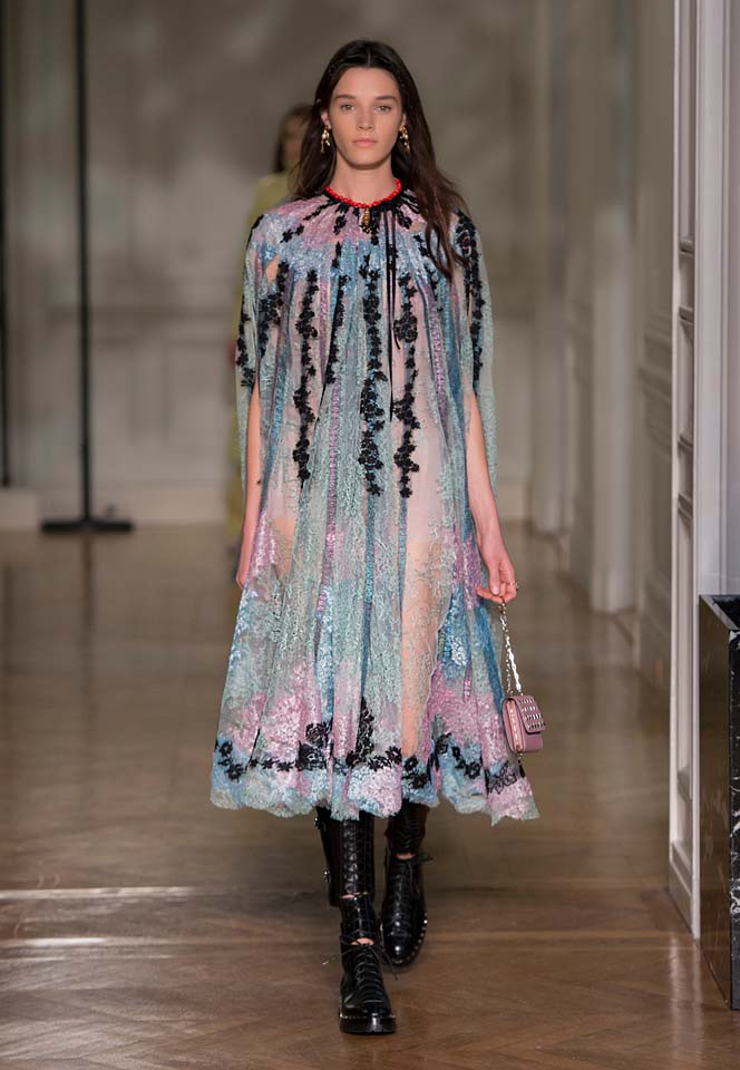 valentino-fw17-rtw-fall-winter-2017-18-collection (32)-blue-sheer-black-applique-dress