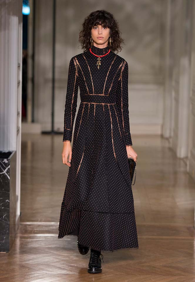 valentino-fw17-rtw-fall-winter-2017-18-collection (52)-polka-dots-dress
