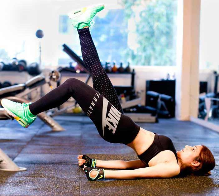 athleisure clothing shilpa-ahuja-gym-attire-nike-photo-shoot-fitness-air-max-shoes-tights-sports-bra