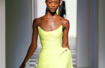 oscar de la renta-fall-winter-collection-fall winter 2017-fw17-green-strapless