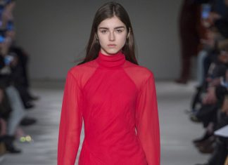 victoria-beckham-fall-winter-2017-collectio-red-dress-latest