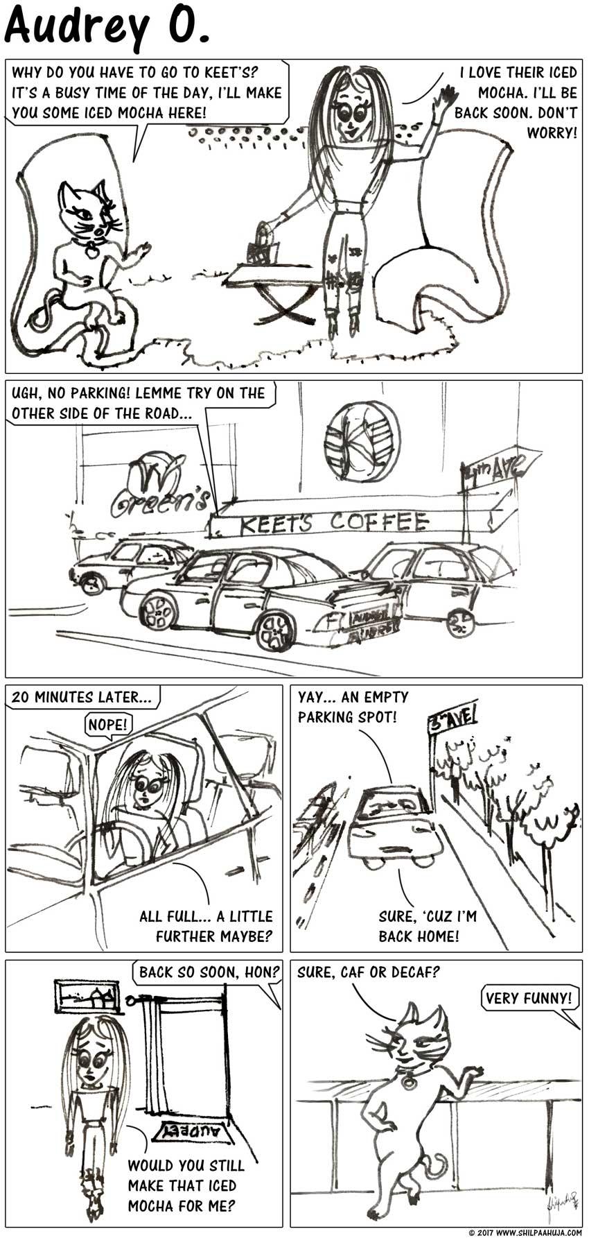 audrey-o-comic-v1e34-girl-cartoon-how-to-find-parking-jokes-memes-funny