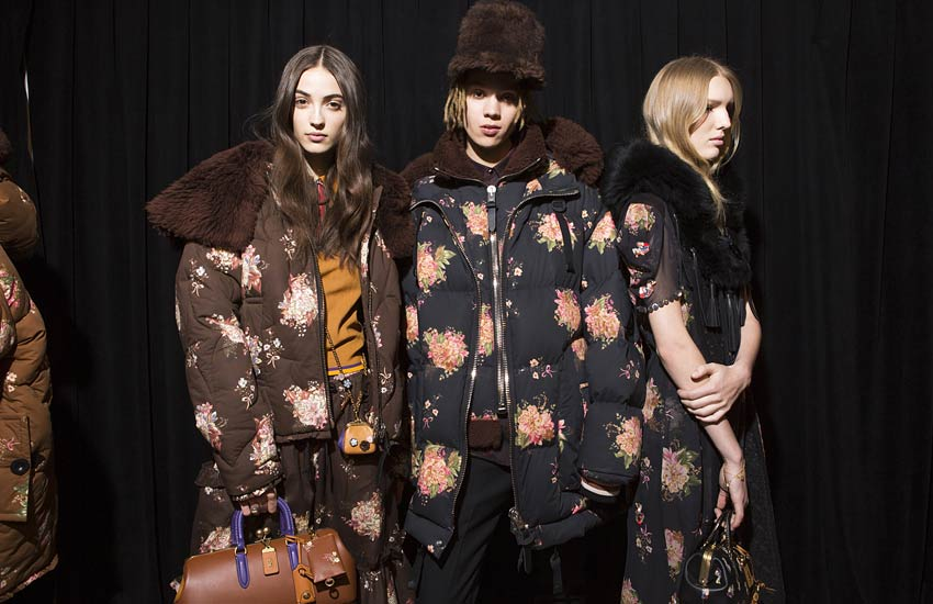 Coach Fall Winter-coach-fall-winter-2017-18-fw17-rtw-backstage-floral-jackets-models