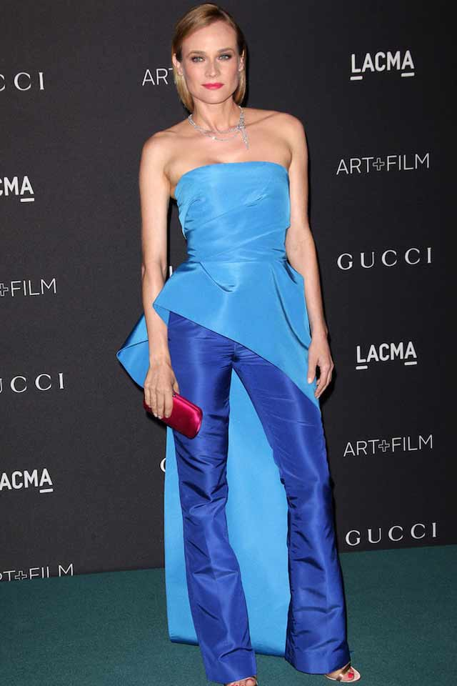 diane-kruger-dresses-with-pants-for-women-latest-trend-2017-blue-outfit