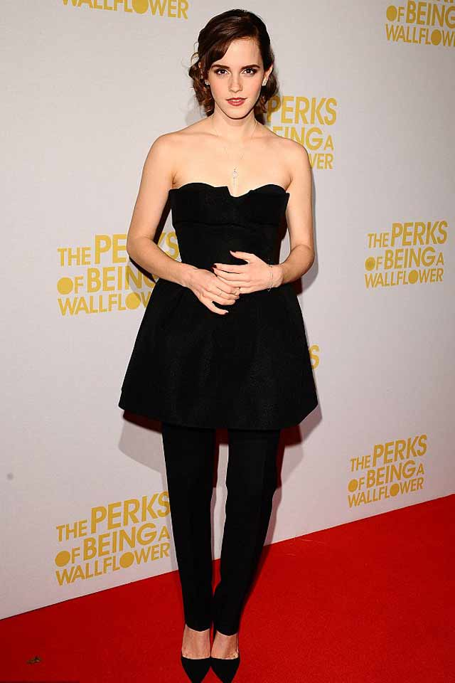 dress-with-pants-latest-trend-2017-emma-watson-black-monochromatic-outfit