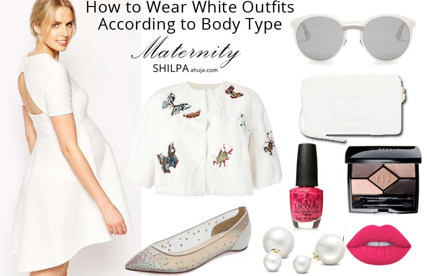 how-to-wear-all-white-outfits-ideas-fall-monochromatic-party-maternity