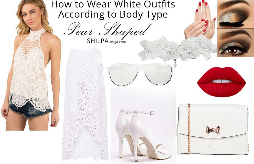 how to wear all white outfits ideas-party-pear-shaped-body-type