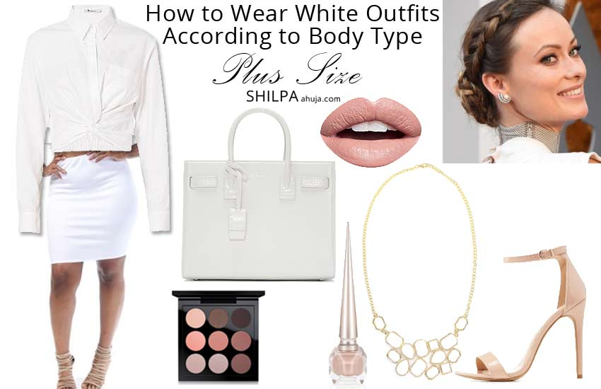 how-to-wear-white-monochriomati-outfit-plus-sized-women-body-shape
