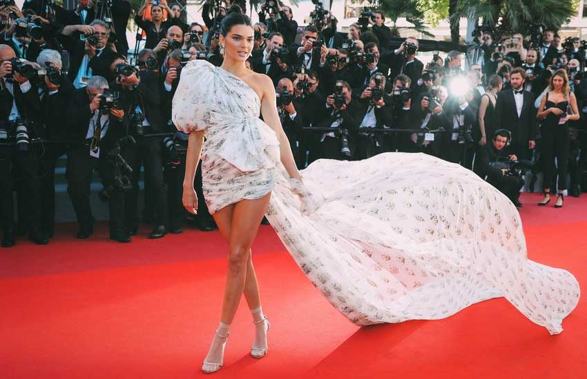 kendall-jenner-cannes-2017-fashion-long-train-pretty-dress-gown