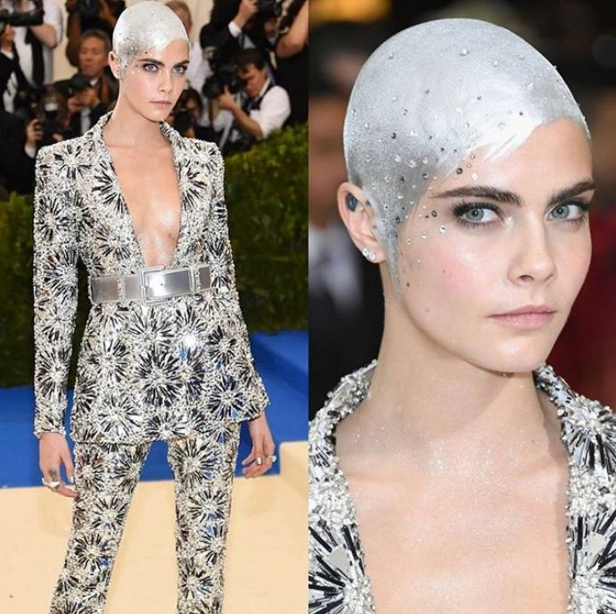 met-gala-2017-celebrity-fashion-makeup-beauty-looks-plunging-neckline-metallic-belt-cara-delevingne