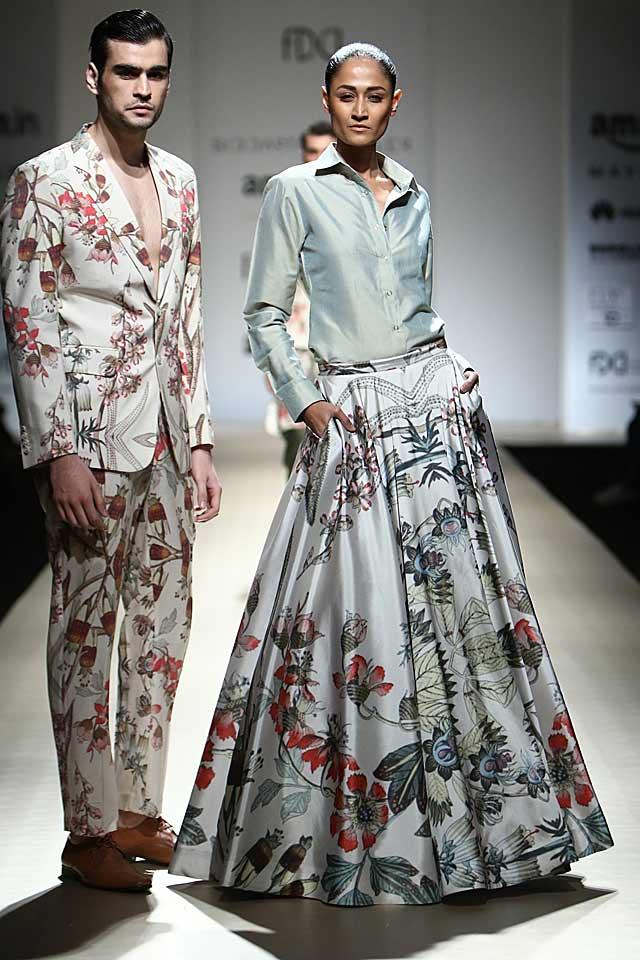 rajesh-kashyap-floral-print-skirt-button-up-shirt
