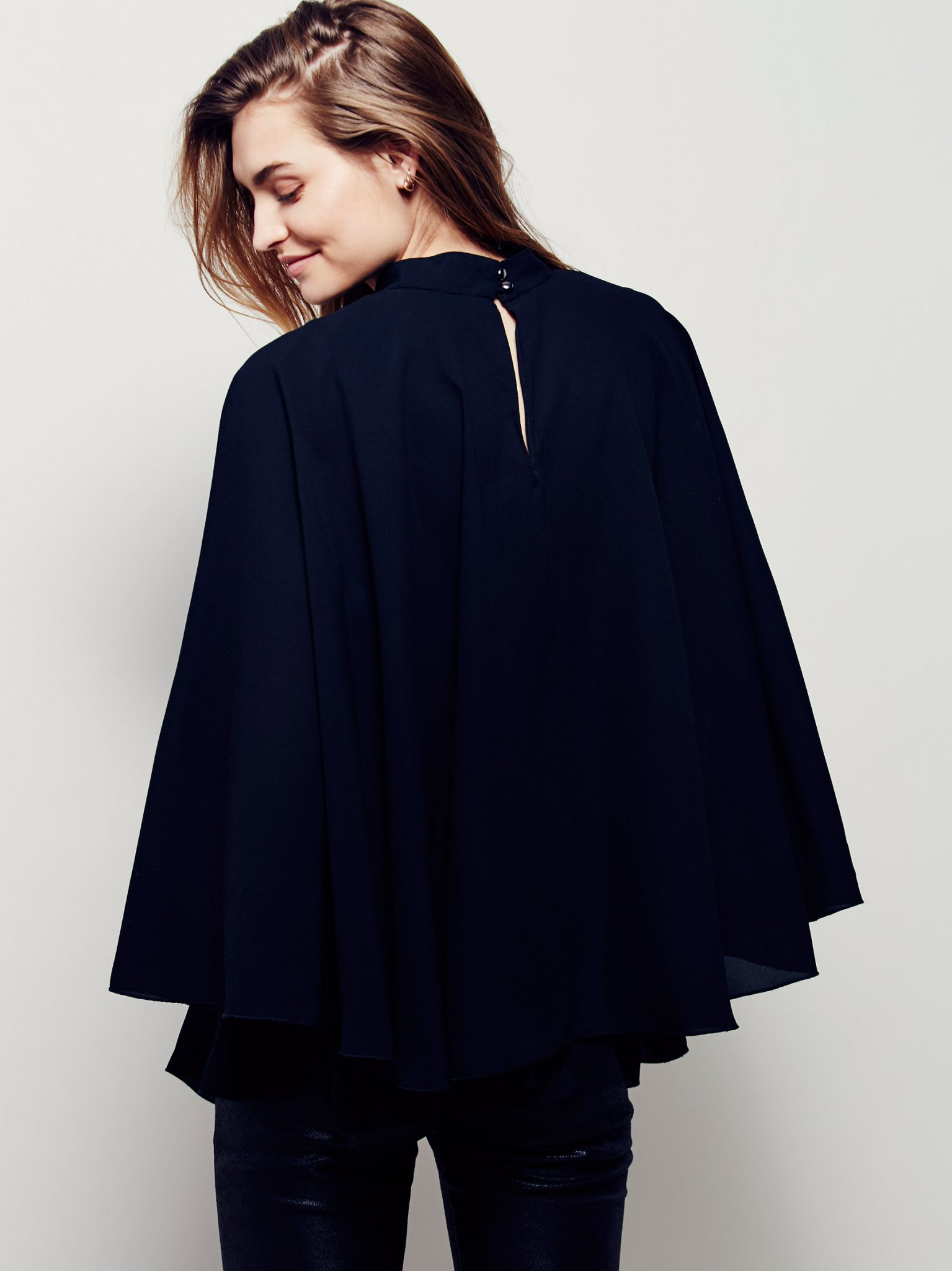 best-friday-dressing-women's-work-clothes-outfit-ideas-cape-tunic-Black