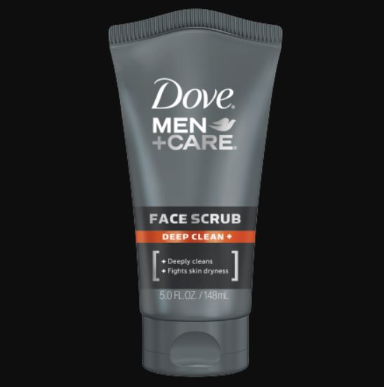 men face scrub