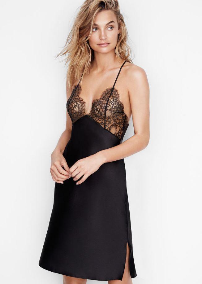 night-wear-must-haves-womens-sleepwear-essentials-victoria-secret-black-lace-slip