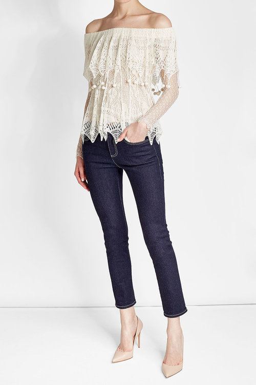 off-shoulder-lace-top-alexander-mc- Queen-top-office-casual-friday-outfit-ideas-workwear