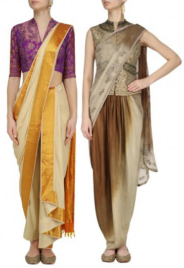 Dhoti-traditional-Style-fashion-ready-to-wear-pre-draped-sarees-fall-2017