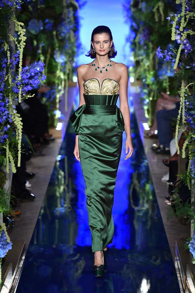 Guo Pei FW17-18 Couture-fall-winter-2017 (22)-strapless-green-fitted-dress