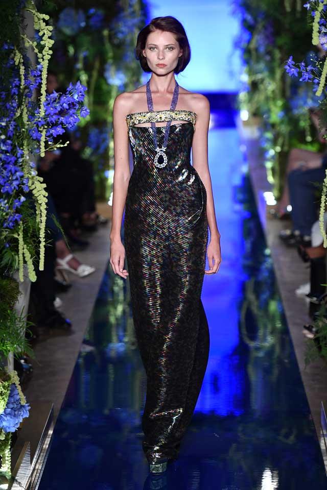 Guo Pei FW17-18 Couture-fall-winter-2017 (24)-black-textured-maxi-dress