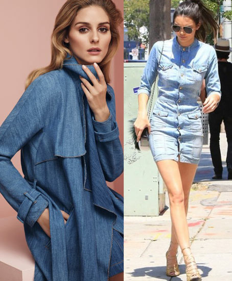 how-to-wear-a-denim-dress-For-a-lunch-brunch-evening-date-fashion-fall-2017