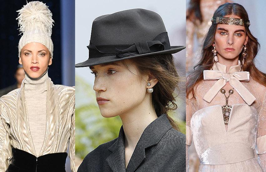 latest Hair Accessory Trend Analysis-hats-bands-slubanalytics-fashion-week-runway-fall-winter-2017-18