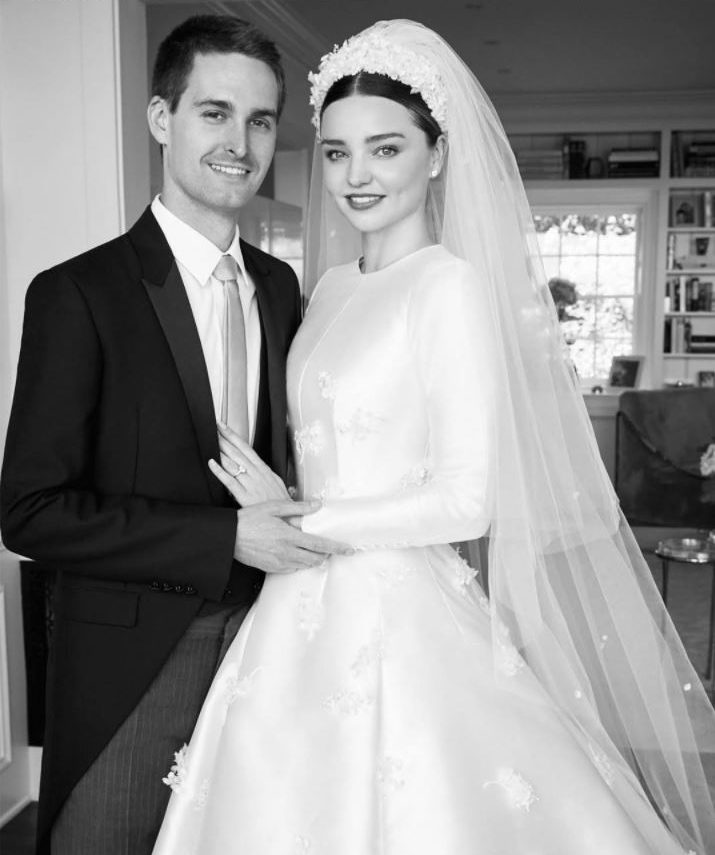 miranda-kerr-wedding-dress-gown-dior-evan-spiegel