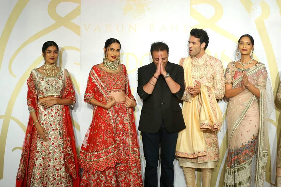 Varun Bahl Couture 2017 Collection- ICW17-indian-designer-varun-bahl- models-embellished-showstopper-lehenga
