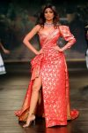 Designer Monisha-Jaising- 'Opera'- India- Couture-Week 2017 (19)-foil-print-one-sided-sleeve-dress-shilpa-shetty