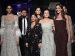 Designers Falguni and Shane Peacock-Farah Khan-Preity Zinta-Ujwala-Raut-models-Lakme Fashion-Week-WF17